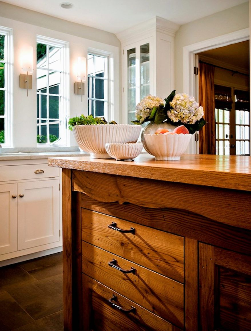 Photo courtesy of Aidan Design Richard A. Subaran of Aidan Design in Bethesda said many clients choose to use a reclaimed cabinet as a kitchen island.