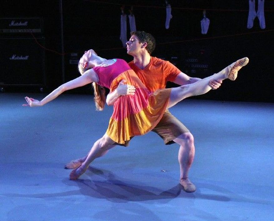 Alicia Curtis and Dustin Kimball are dancers with Bowen McCauley Dance. The troupe will perform at the Wintergreen Summer Music Festival on Aug. 2, 4 and 5.