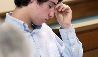 T.J. Lane, 17, appears in Geauga County Juvenile Court in Chardon, Ohio, on Thursday, May 24, 2012. The high schooler is charged in the Feb. 27 Chardon High School rampage that left three students dead and two students seriously wounded. (Associated Press)