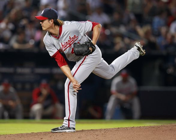 Chien-Ming Wang will start Wednesday for the Nationals, after taking over Ross Detwiler's spot in the rotation. (AP Photo/John Baz
