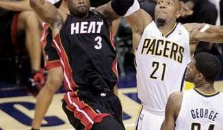 """It's the matchup the game of basketball wants,"" said Miami's Dwyane Wade (left). ""... We accept the challenge, and we look forward to the series."" For the fifth time in seven years, Boston or Miami will represent the Eastern Conference in the NBA Finals. (Associated Press)"