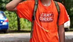 Brandon Parker, the son of Afghanistan War veteran Clifford Parker, is one of many children of disabled or wounded military service members who has attended Camp Corral, a free weeklong summer camp sponsored by the Golden Corral restaurant chain. (Camp Corral)