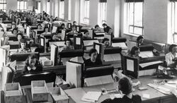 Tabulators in Washington record the information from the more than 120,000 enumerators who gathered data for the 1940 U.S. census. The population record was veiled in secrecy for 72 years because of privacy concerns. (National Archives and Records Administration via Associated Press)