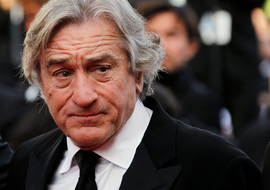Actor Robert De Niro arrives for the screening of Once Upon a Time in America at the 65th international film festival, in Cannes, southern France, Friday, May 18, 2012. (AP Photo/Joel Ryan)