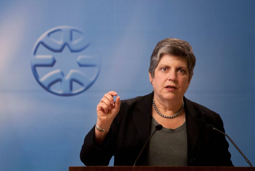 **FILE** Secretary of Homeland Security Janet Napolitano