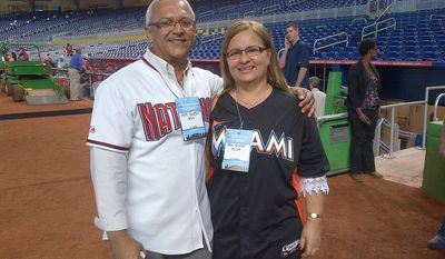 The parents of Donovan and Jhonatan Solano, Louis Solano and Myriam Preciado. (Amanda Comak/The Washington Times)