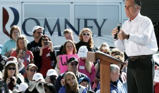 Republican presidential candidate Mitt Romney speaks Tuesday in Craig, Colo., where he lambasted President Obama for his record on job creation and a perceived hostility toward business. (Associated Press)