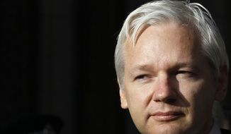 WikiLeaks founder Julian Assange (AP Photo/Kirsty Wigglesworth)