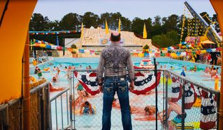 "This film image released by The Weinstein Company shows David Koechner in a scene from ""Piranha 3DD."" (AP Photo/The Weinstein Company)"