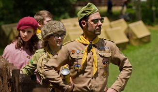 """Moonrise Kingdom,"" the seventh feature film from writer-director Wes Anderson, stars (from left) Kara Hayward, Jared Gilman and Jason Schwartzman. (Focus Features via Associated Press)"