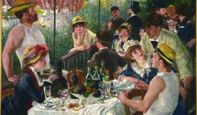 """""""Luncheon of the Boating Party"""" (1881) by Pierre-Auguste Renoir last left the Phillips Collection in 2002, when the gallery was being renovated. (Phillips Collection)"""