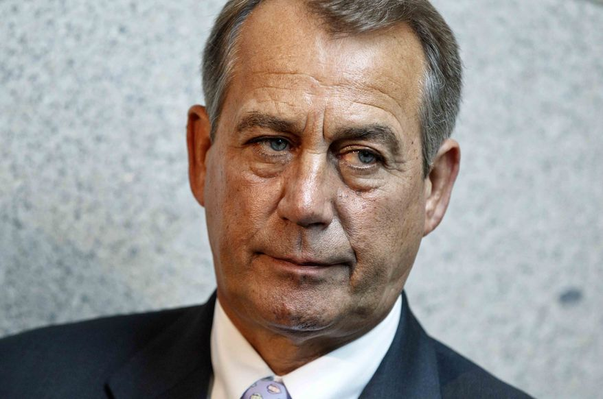 ** FILE ** House Speaker John Boehner of Ohio meets with reporters following a GOP strategy session on Capitol Hill in Washington, Thursday, May 31, 2012. (AP Photo/J. Scott Applewhite)