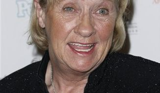 "FILE - In this Sept. 19, 2008 file photo, Kathryn Joosten arrives at the 2008 Primetime Emmy Awards Nominees for Outstanding Performance reception in Los Angeles. Joosten, the veteran character actress who played crotchety Karen McCluskey on ABC's ""Desperate Housewives,"" died Saturday, June 2, 2012. She was 72. (AP Photo/Matt Sayles, File)"