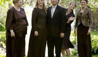 "Criminal charges will not be pursued against Kody Brown and his four wives, made famous by TLC reality show ""Sister Wives,"" after Utah authorities launched a bigamy investigation. (TLC via Associated Press)"