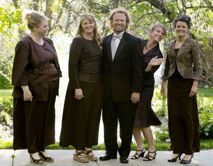 """Criminal charges will not be pursued against Kody Brown and his four wives, made famous by TLC reality show """"Sister Wives,"""" after Utah authorities launched a bigamy investigation. (TLC via Associated Press)"""