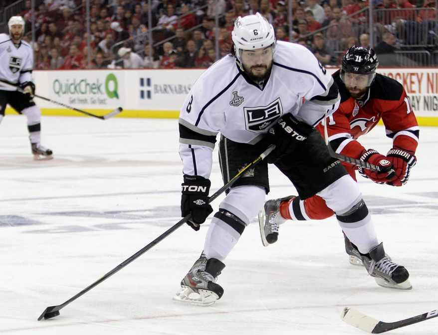 Los Angeles defenseman Drew Doughty has three goals, nine assists and is a plus-12 in the playoffs He signed an eight-year, $56 million contract last offseason. (Associated Press)