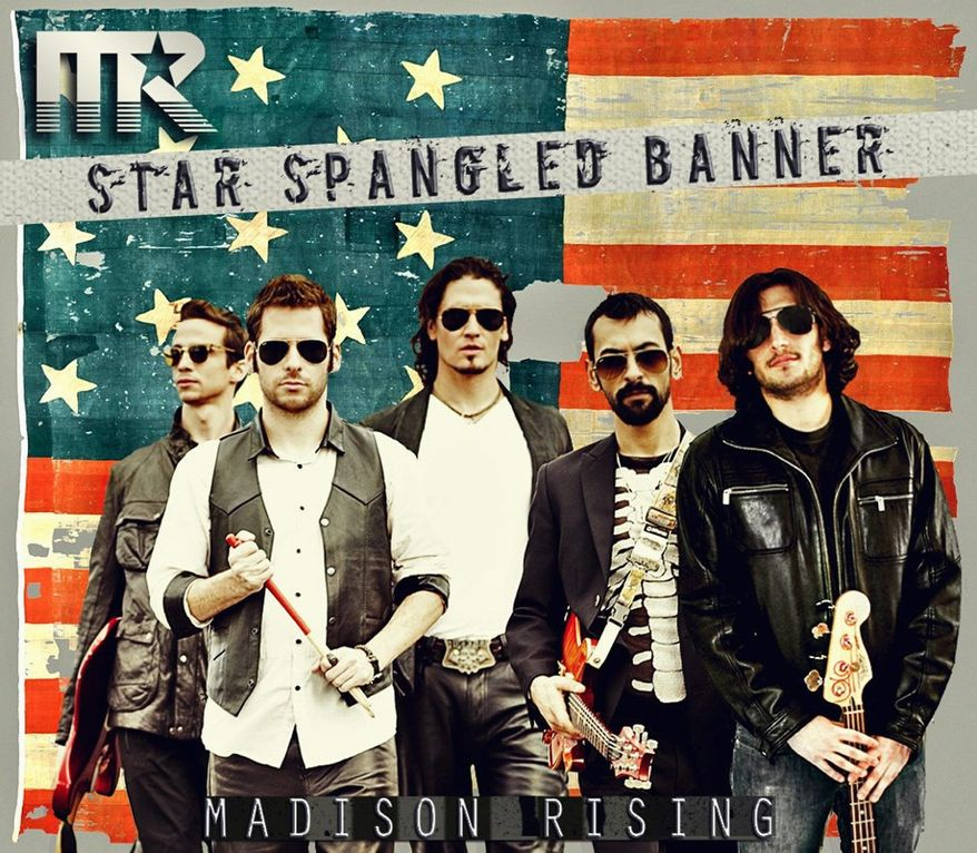 """The patriotic rock band Madison Rising has released a drums-and-guitar-driven version""""The Star-Spangled Banner."""" (Madison Rising)"""