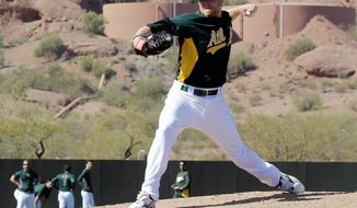 ASSOCIATED PRESS Sean Doolittle was projected to be a slugging first baseman when Oakland drafted him out of Virginia in 2007. Injuries set him on the path to being a pitcher.