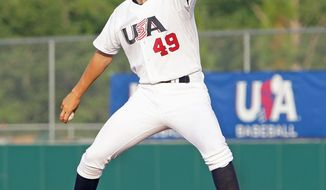 Lucas Giolito, 6-foot-6 and 230 pounds, has a scholarship to UCLA waiting if he decides against entering professional baseball right away. (Alyson Boyer Rode)