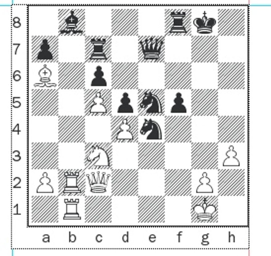 Gelfand-Anand, Rapid Game 3, after 25...Nxe5.