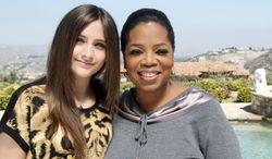 """Oprah Winfrey will broadcast an interview with Paris Jackson, daughter of the late pop icon Michael Jackson, on Sunday. Ms. Winfrey interviewed Paris for """"Oprah's Next Chapter,"""" which can be seen on OWN. (Associated Press)"""