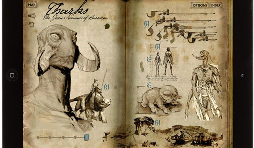 Learn about Tharks with the iPad app Disney Second Screen: John Carter.