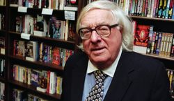 """Author Ray Bradbury appears at a signing for his book """"Quicker Than the Eye"""" in Cupertino, Calif., in 1997. (Associated Press)"""