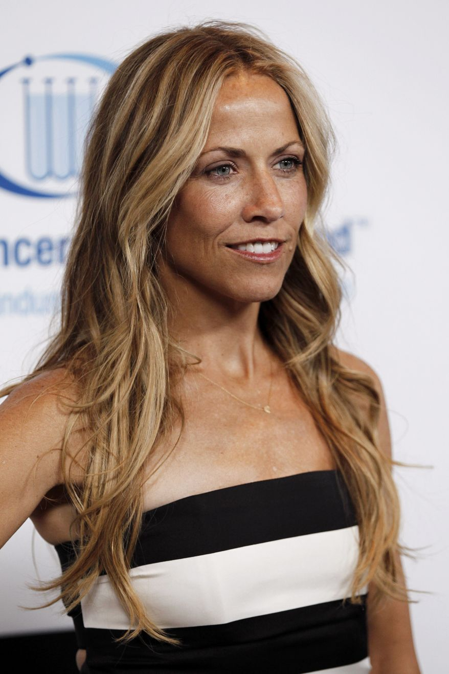 "**FILE** Musician Sheryl Crow attends the Entertainment Industry Foundation's ""Unforgettable Evening"" in Beverly Hills, Calif., on April 18, 2012. (Associated Press)"