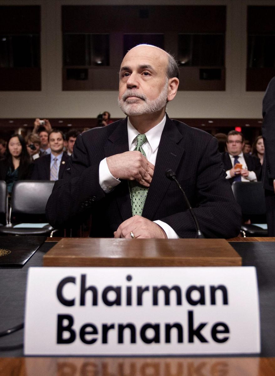 Federal Reserve chief Ben S. Bernanke sketched a hopeful outlook in two hours of testimony to a congressional panel Thursday, offering no sign that the Fed is preparing imminent action to aid the nation's economy. (Associated Press)