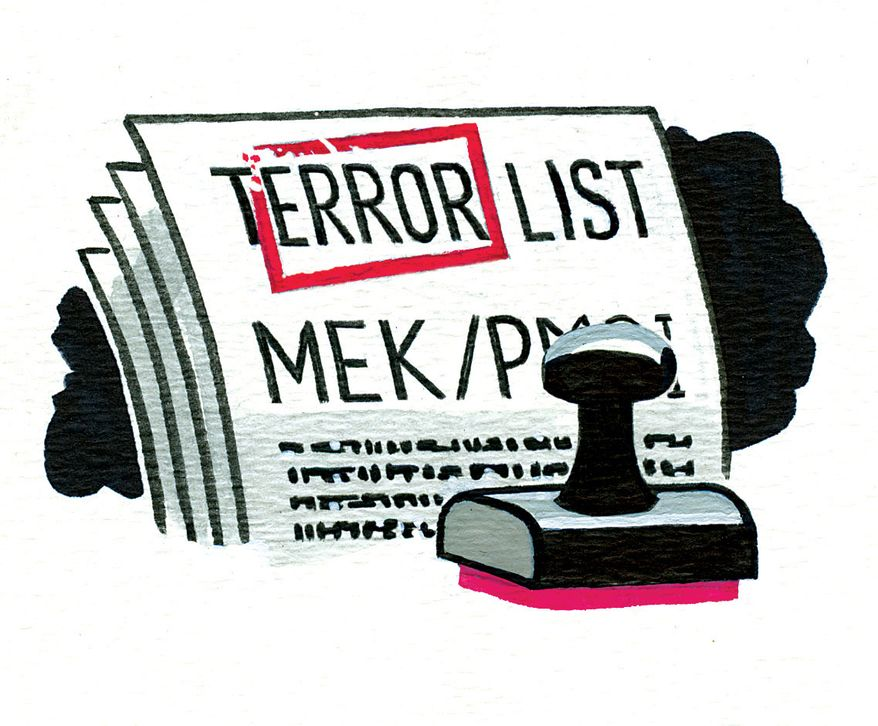 Illustration Terror List by Alexander Hunter for The Washington Times