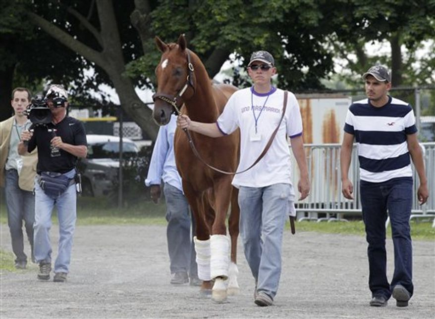 I'll Have Another was scratched from the Belmont Stakes and retired Friday. (Associated Press)