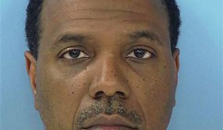 This photo provided on Friday, June 8, 2012, by the Fayette County Sheriff's Office shows megachurch pastor Creflo Dollar. (Associated Press/Fayette County Sheriff's Office)