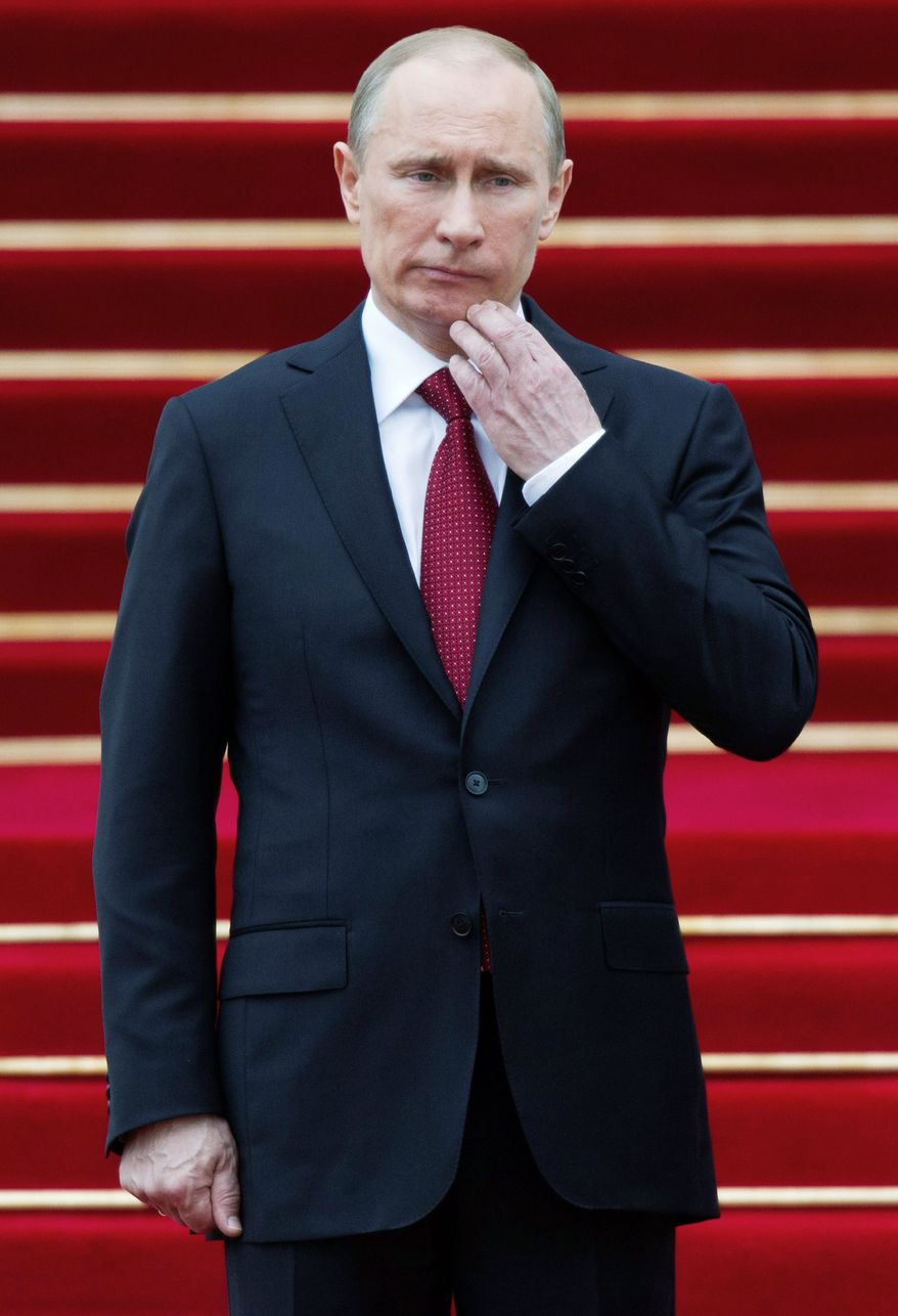 Mr. Putin is refusing any talks with the opposition ahead of Tuesday's planned rally in Moscow.