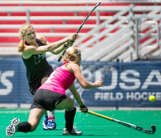 Keli Smith-Puzo was a three-time All-American at Maryland and has 169 international caps to her credit. She's one of seven players with regional ties to be named to the U.S. Olympic team for the London Games. (Andrew Harnik/The Washington Times)
