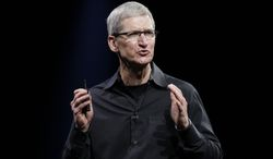 **FILE** Apple CEO Tim Cook speaks at the Apple Developers Conference in San Francisco on on June 11, 2012.  (Associated Press)