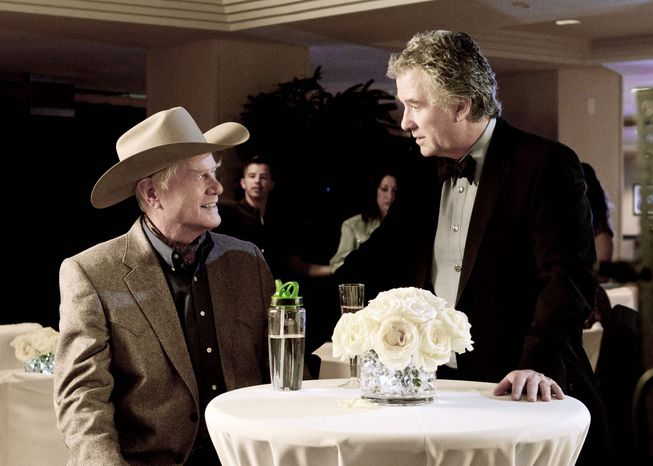 """TNT Reprising their """"Dallas"""" roles in the remake are rivals Larry Hagman (left) as J.R. Ewing and Patrick Duffy as brother Bobby Ewing. The new series premieres Wednesday on TNT."""