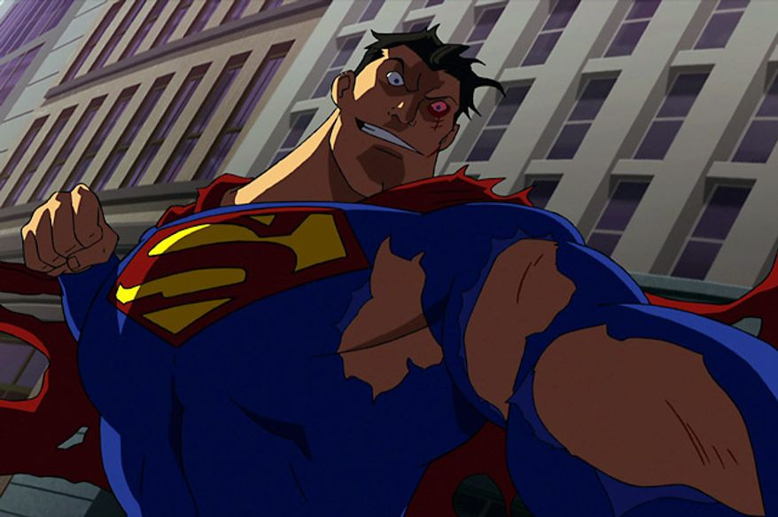 An angry Man of Steel battles a group of super-powered vigilantes in the Blu-ray release of Superman vs. The Elite.