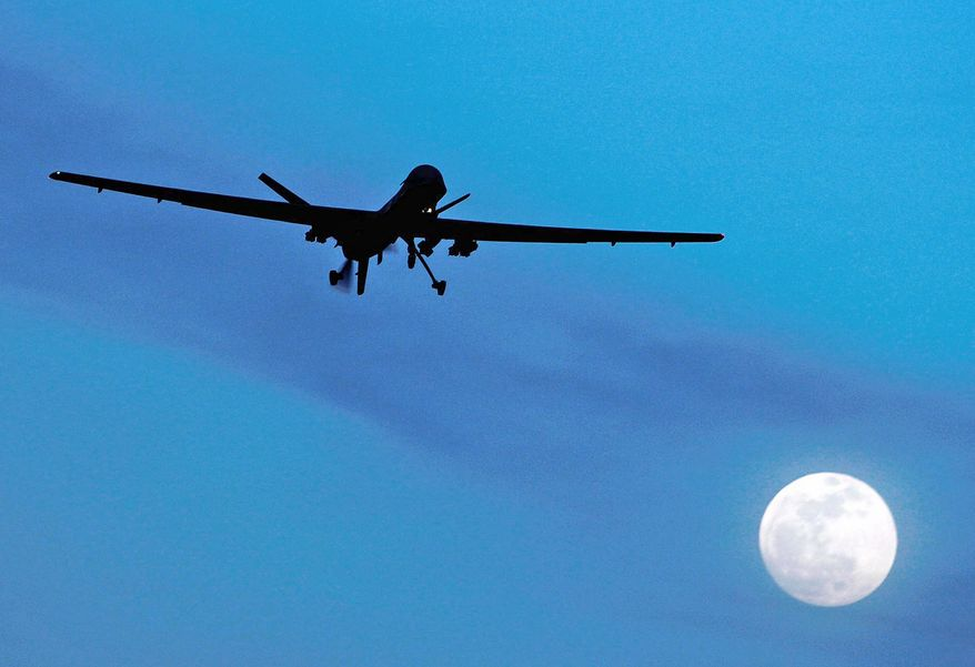 The United States' use of unmanned drones to kill terror suspects was opposed by the majority of voters in 17 of 21 countries polled for a Pew Research Center survey on the U.S. image abroad. (Associated Press)