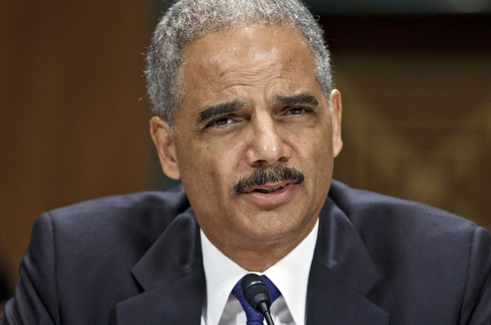 Attorney General Eric H. Holder Jr. appears before the Senate Judiciary Committee on Capitol Hill in Washington on Tuesday, June 12, 2012. (AP Photo/J. Scott Applewhite)