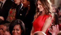 Actress Sarah Jessica Parker attends a National Medal of Arts and National Humanities Medal ceremony at the White House in February 2010. (Associated Press)