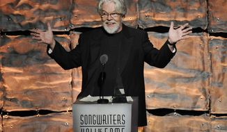 Bob Seger speaks June 14, 2012, during the 2012 Songwriters Hall of Fame induction and awards gala at the Marriott Marquis Hotel in New York. (Evan Agostini/Invision via Associated Press)