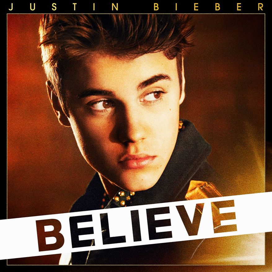 """This CD cover image released by Island Def Jam Music Group shows the latest release by Justin Bieber, """"Believe."""" (AP Photo/Island Def Jam Music Group)"""