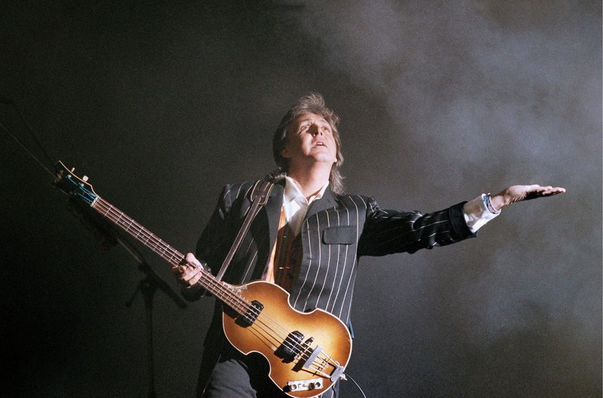 "A new recording of the Beatles' hit ""Birthday"" was released Monday to mark Paul McCartney's 70th birthday. (Associated Press)"