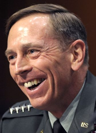 FILE - CIA Director nominee Gen. David Petraeus testifies on Capitol Hill in Washington, Thursday,June 23, 2011, before the Senate Intelligence Committee hearing on his nomination. Petraeus is a recipient of the 2012 Jefferson Award. (AP Photo/Cliff Owen)