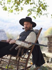"""This undated image released by History shows Kevin Costner portraying Devil Anse Hatfield from the History network's miniseries """"Hatfields & McCoys."""" (AP Photo/History, Kevin Lynch)"""