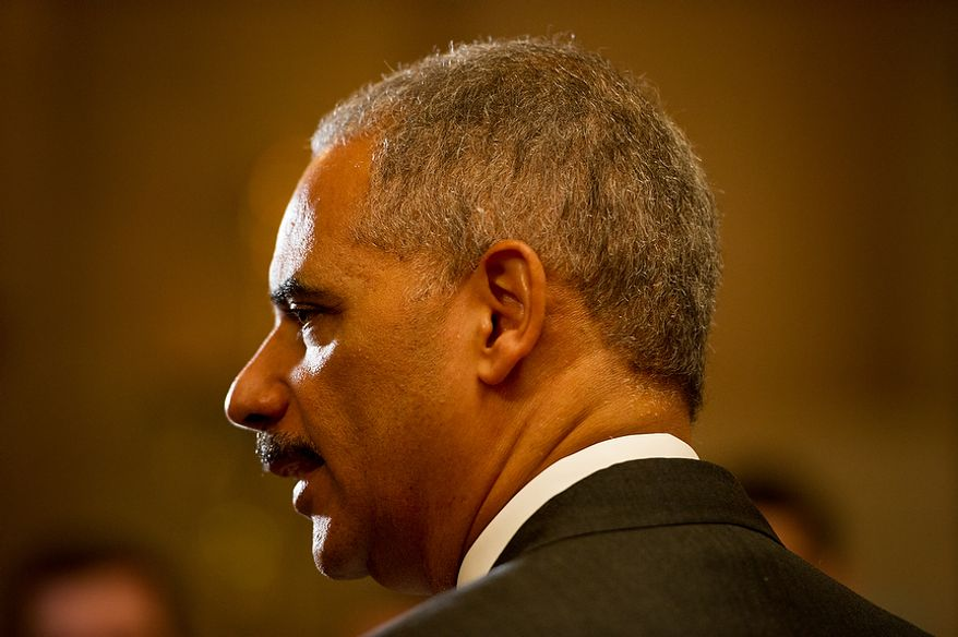 ** FILE ** Attorney General Eric H. Holder Jr. (Andrew Harnik/The Washington Times)