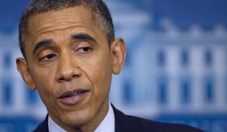 **FILE** President Obama talks June 8, 2012, about the economy at the White House. (Associated Press)