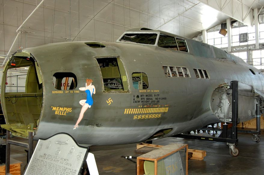 ** FILE ** The B-17F Memphis Belle is shown in the restoration hangar at the National Museum of the U.S. Air Force in Dayton, Ohio. The most celebrated American aircraft to emerge from World War II is undergoing a loving and fastidious restoration. (U.S. Air Force photograph via Associated Press)