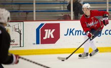 Russian winger Stanislav Galiev, the Caps' third-round pick in 2010, has thrived during his four seasons in North America. (Rod Lamkey Jr./The Washington Times)