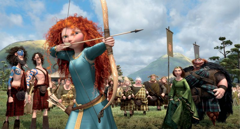 """Merida, the princess-heroine of """"Brave,"""" would rather perfect her archery than behave as her mother, the queen, wants. Their changing relationship brightens the film. (Associated Press)"""